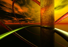 fundo 3d abstrato Fotografia de Stock Royalty Free