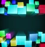 fundo 3d abstrato cúbico Imagem de Stock