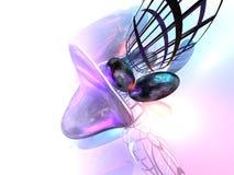 fundo 3D abstrato cor-de-rosa Fotografia de Stock Royalty Free