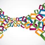 fundo 3d quadrado colorido Imagem de Stock