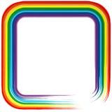 Fundo 4 do vetor do sumário do frame do arco-íris da arte Fotos de Stock Royalty Free