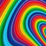 Fundo 9 do vetor do sumário do arco-íris da arte Fotografia de Stock Royalty Free