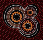Fundo aborígene do vetor da arte Fotos de Stock Royalty Free