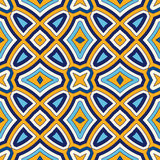 Fundo abstrato étnico brilhante Teste padrão sem emenda com o ornamento geométrico simétrico ilustração stock