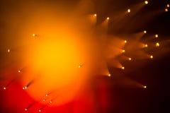 Fundo abstrato alaranjado e vermelho morno Imagens de Stock