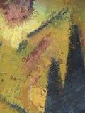 """Fundo abstrato amarelo com vertical do texture†artístico"""" Texturas amarelas desenhados ? m?o ilustração royalty free"""