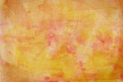 Fundo abstrato amarelo da aguarela Fotografia de Stock