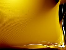 Fundo abstrato amarelo e preto ilustração do vetor