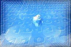 Fundo abstrato azul Fotos de Stock Royalty Free