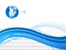 Fundo abstrato azul. fotos de stock royalty free