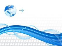 Fundo abstrato azul. fotografia de stock