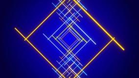 Fundo abstrato azul, azul móvel e linha do ouro ilustração stock