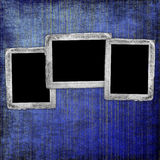 Fundo abstrato azul com frames Foto de Stock Royalty Free