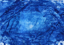 Fundo abstrato azul da aguarela Fotografia de Stock Royalty Free