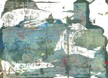 Fundo abstrato azul da aquarela da manhã imagem de stock