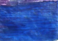 Fundo abstrato azul da aquarela da sarja de Nimes Foto de Stock