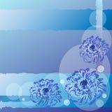 Fundo abstrato azul da flor Foto de Stock