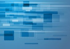 Fundo azul abstrato com elementos da tecnologia Imagem de Stock