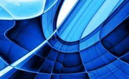 Fundo abstrato azul de cristal ilustração do vetor