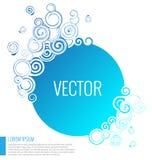 Fundo abstrato azul do círculo Imagem de Stock