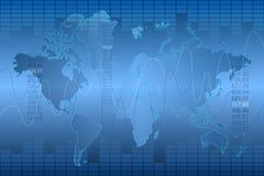 Fundo abstrato azul do gráfico e do mapa Fotografia de Stock Royalty Free
