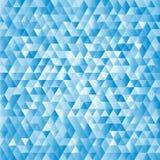 Fundo abstrato azul dos triângulos Fotografia de Stock Royalty Free