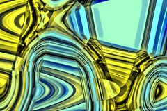 Fundo abstrato azul e amarelo Imagens de Stock Royalty Free