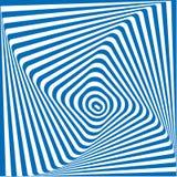 Fundo abstrato azul e branco do vetor da ilusão Foto de Stock Royalty Free