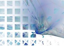 fundo abstrato Azul-n-branco Imagens de Stock