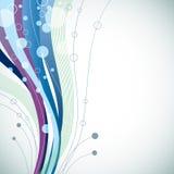 Fundo abstrato azul ondulado Imagens de Stock