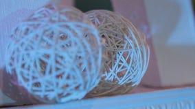 Fundo abstrato, bola das videiras, bolas de videiras claras, ornamento decorativos filme