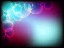 Fundo abstrato bonito com bolhas com cores surpreendentes Fotografia de Stock