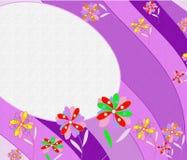 Fundo abstrato bonito com flores brilhantes Imagens de Stock Royalty Free