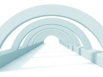 Fundo abstrato branco da arquitetura do túnel Foto de Stock