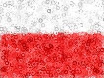Fundo abstrato branco vermelho Imagem de Stock