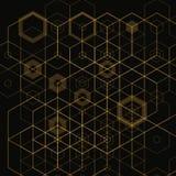 Fundo abstrato brilhante do techno com hexágonos Eps 10 ilustração royalty free