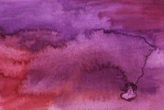 Fundo abstrato brilhante roxo da aquarela foto de stock royalty free