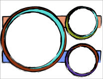 Fundo abstrato - círculos coloridos Ilustração Royalty Free