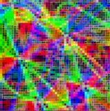 Fundo abstrato cúbico colorido dos quadrados de vidro Imagens de Stock Royalty Free