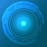 Fundo abstrato ciano do vetor com círculos da tecnologia Imagens de Stock