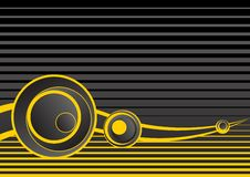 Fundo abstrato cinzento e amarelo Foto de Stock Royalty Free