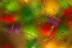 Fundo abstrato colorido ao misturar a ?gua, o ?leo e a pomada transparente com a ilumina??o lateral superior foto de stock royalty free
