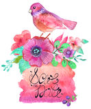 Fundo abstrato colorido da aquarela Foto de Stock Royalty Free