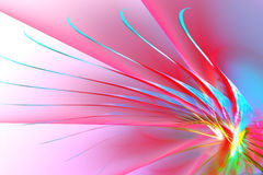 Fundo abstrato colorido da asa Fotos de Stock Royalty Free