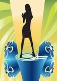 Fundo abstrato colorido da dança do disco do VETOR Foto de Stock Royalty Free