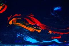 Fundo abstrato colorido da pintura acrílica fotografia de stock royalty free