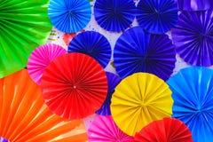 Fundo abstrato colorido das flores de papel Fotos de Stock Royalty Free