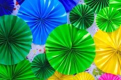 Fundo abstrato colorido das flores de papel Foto de Stock Royalty Free