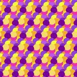 Fundo abstrato colorido do ponto Contexto redondo da arte do círculo Decoração sem emenda do teste padrão Elemento do feriado da  Imagem de Stock