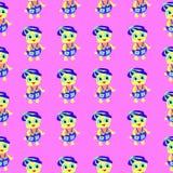 Fundo abstrato colorido do teste padrão cor-de-rosa do patinho Ilustração do Vetor